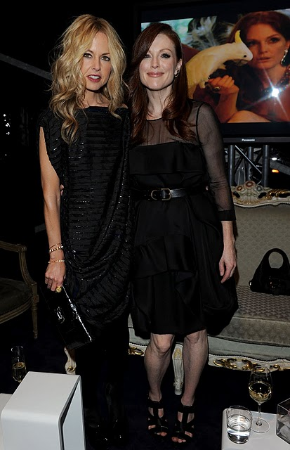 RACHEL ZOE AND JULIANNE MOORE AT THE BULGARI COCKTAIL EVENT