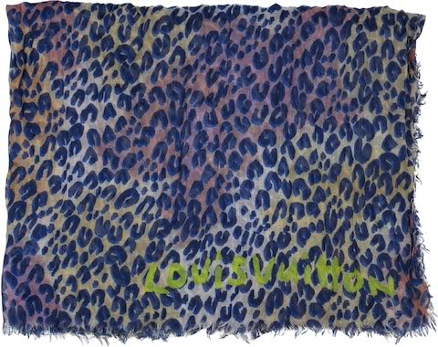 LeopardStoleSprayBleu