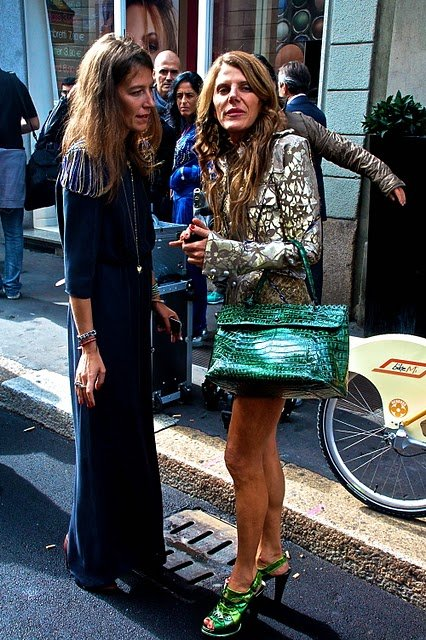 anna-dello-russo-and-bottega-veneta-green-mirror-leather-sandals-gallery