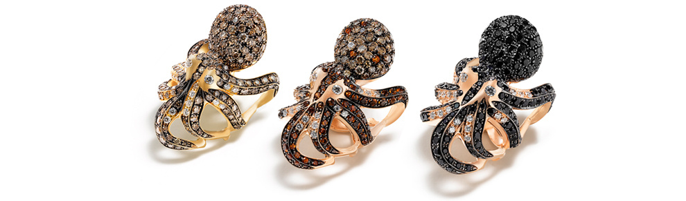 Octopus bague by Roberto coin