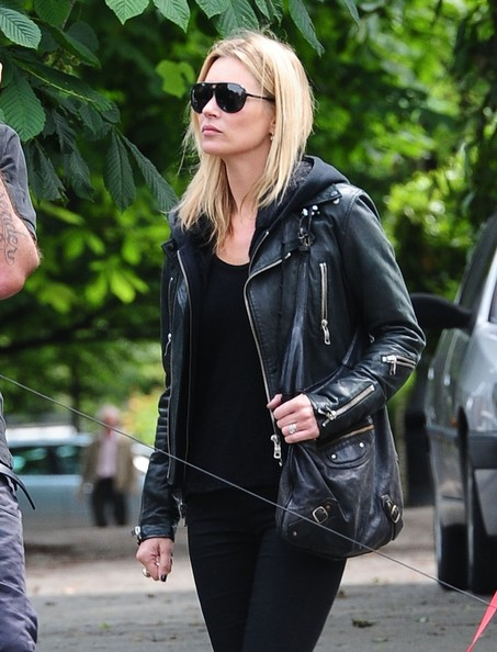 Kate Moss with Motorcycle bag