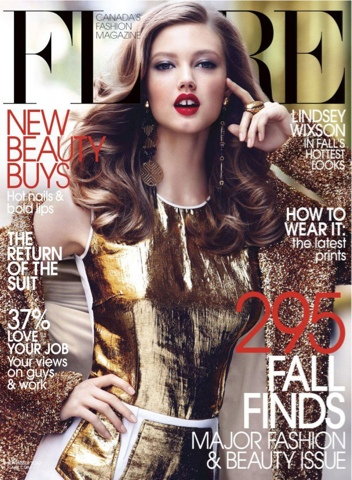 Lindsey Wixson for Flare September 2012