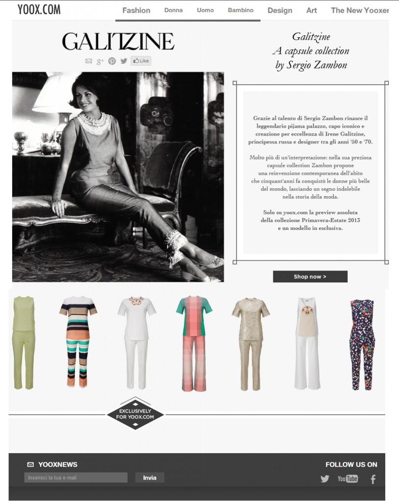 Galitzine Pyjama Palazzo by Sergio Zambon - exclusive preview on yoox.com SCREENSHOT