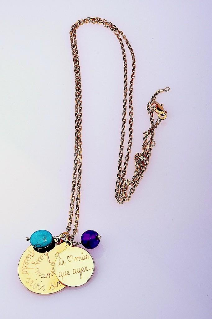 HOPS Collar Olympia turquesa-amatista
