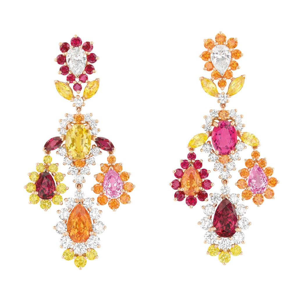 Dear Dior spessartite garnet earrings