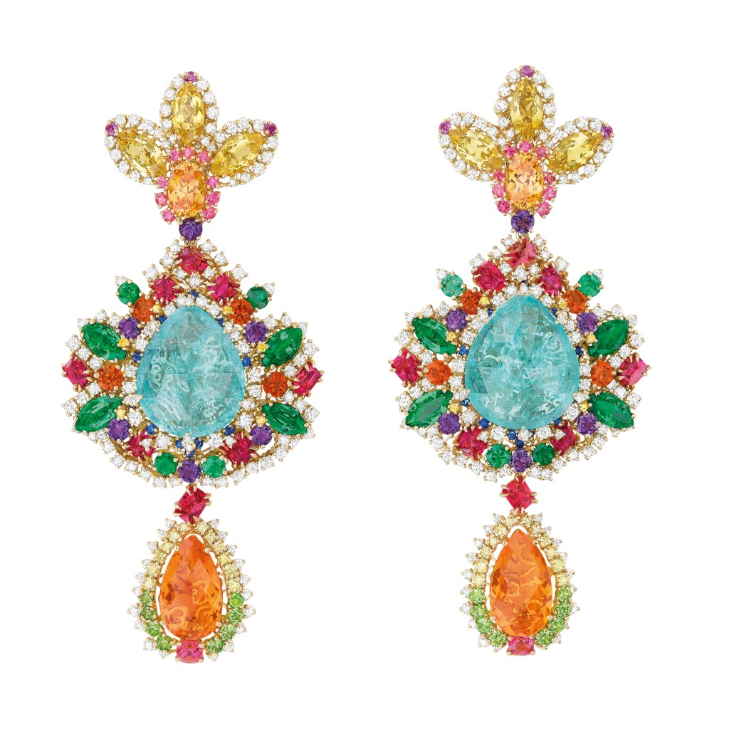 Dentelle Chantilly Multicolore earrings