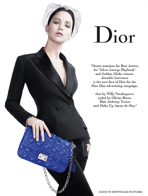 Jennifer Lawrence for Dior SS 2013
