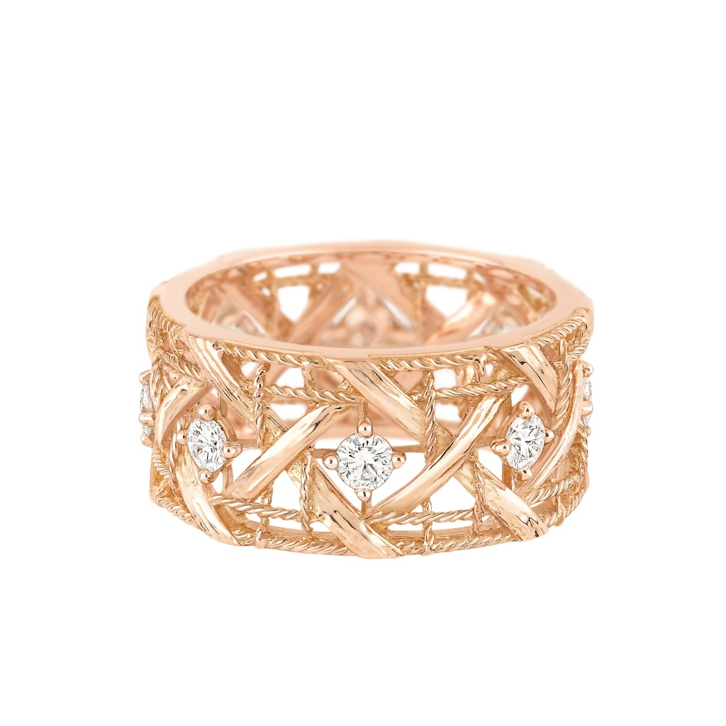 My Dior LM ring - Pink gold and diamonds