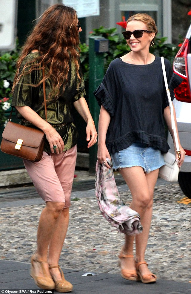 Kylie+Minogue+seen+vacationing+Portofino+
