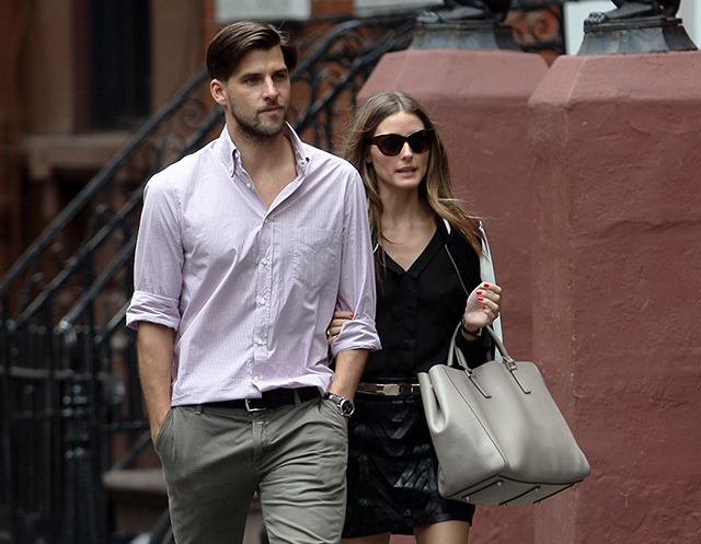 Olivia Palermo with Anya Hindmarch Ebury Soft Tote