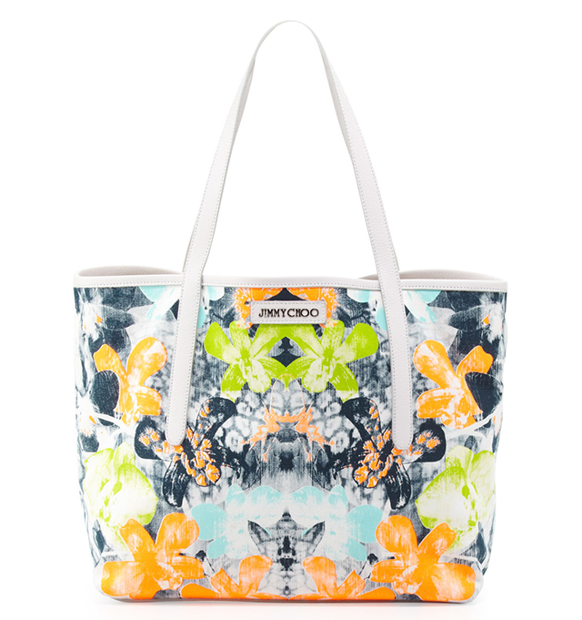 Jimmy-Choo-Sara-Medium-Orchid-Print-Tote