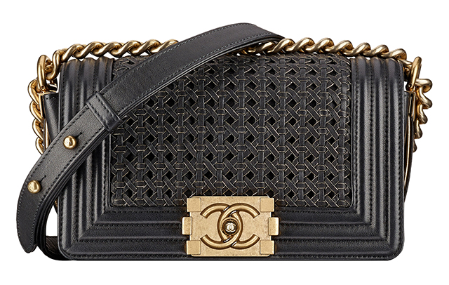 Chanel-Boy-Small-Braided-Bag-Black