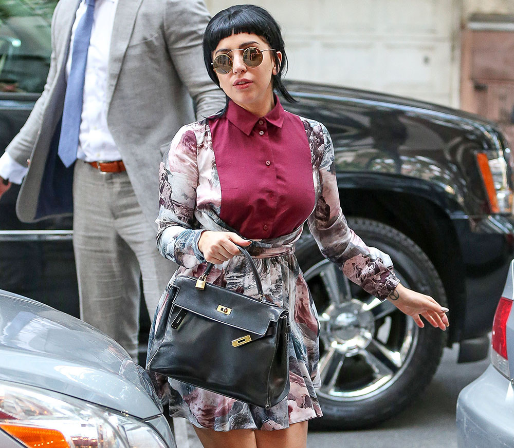 Lady-Gaga-Hermes-Vintage-Kelly-Bag