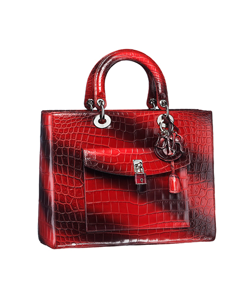 Dior-Fall-Winter-2014-Accessories-Collection-02-diorissimo-crocodile-red-black-stripe-skin-bag