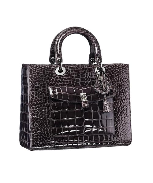 Dior-Fall-Winter-2014-Accessories-Collection-03-diorissimo-crocodile-skin-black-bag
