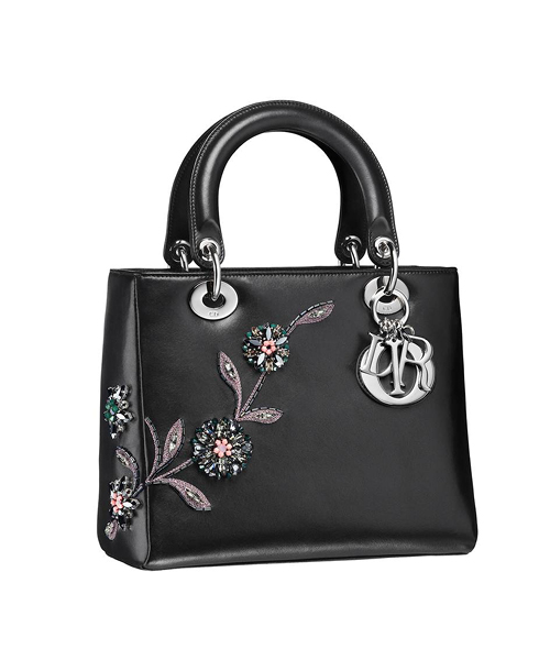 Dior-Fall-Winter-2014-Accessories-Collection-09-lady-dior-black-flower-crystal-leather-bag