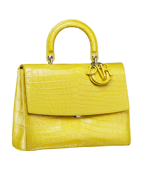 Dior-Fall-Winter-2014-Accessories-Collection-11-crocodile-skin-yellow-bag