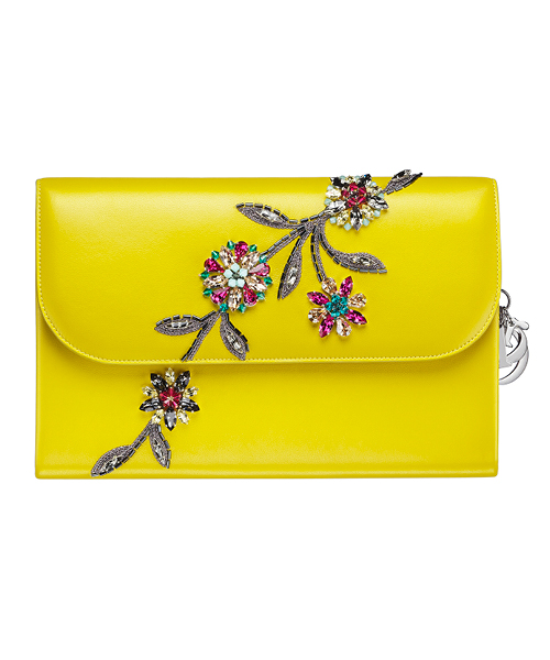 Dior-Fall-Winter-2014-Accessories-Collection-18-yellow-crystal-flower-motif-leather-wallet
