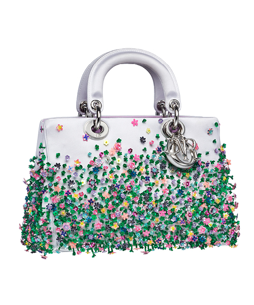 Dior-Fall-Winter-2014-Accessories-Collection-21-white-beaded-green-colors-motif-leather-bag