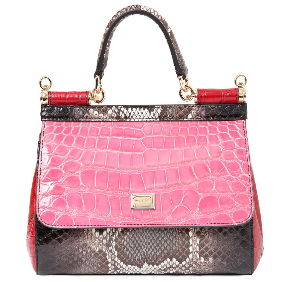 Dolce-Gabbana-Small-Sicily-Patchwork-Exotic-Bag-Pink