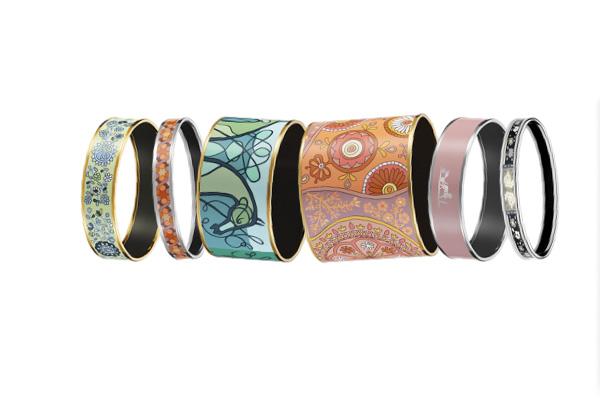 Hermes-Enamel-Bracelets