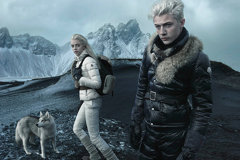 A visual from the Moncler fall 15 ad campaign shot by Annie Leib