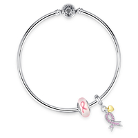Crystal-ribbon-heart-dangle-charm-bracelet