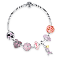Pink-limited-edition-ribbon-charm-bracelet